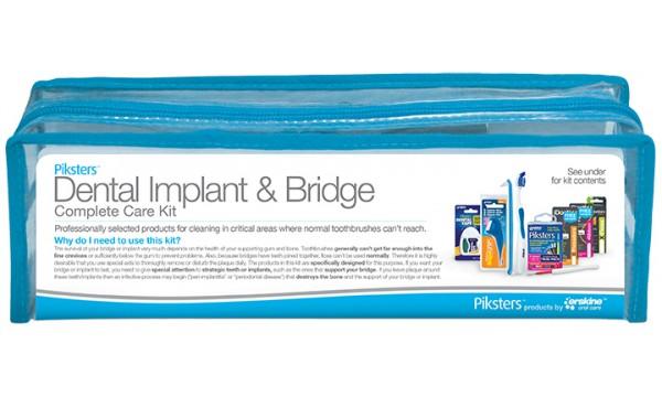 Piksters dantų implantų ir tiltelių priežiūros rinkinys