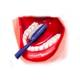 Piksters dantų šepetėlis Taper Tip mėlynas