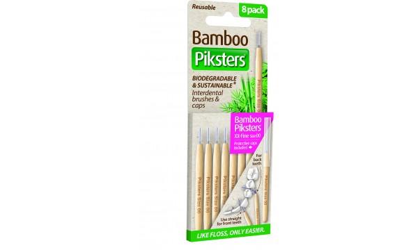 Piksters Bamboo tarpdančių šepetėliai 00 dydis 8 vnt.