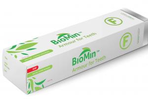 Biomin F - inovatyvi dantų pasta su bioaktyviu stiklu